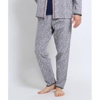 【40%OFF】 タケオキクチ 幾何学迷彩パジャマパンツ[ メンズ ルームウェア パジャマ セット 迷彩 カモフラ ] メンズ ライトグレー(011) 02(M) 【TAKEO KIKUCHI】 【セール開催中】
