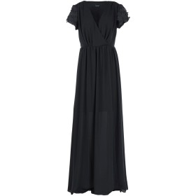 《セール開催中》(A.S.A.P.) レディース ロングワンピース&ドレス ブラック 42 ポリエステル 100%