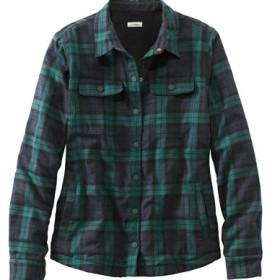フリース・ラインド・フランネル・シャツ、スナップ・フロント プラッド/Fleece-Lined Flannel Shirt Snap-Front Plaid