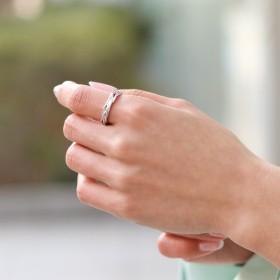 リング - REAL STYLE 3連風ツイストメタリックリング レディース 指輪 リング ring 14号 多重 重ね付け アクセサリー アクセ ジュエリー 雑貨小物 シンプル かわいい 可愛い プレゼント ギフト 贈り物 バレンタイン 韓国ファッション