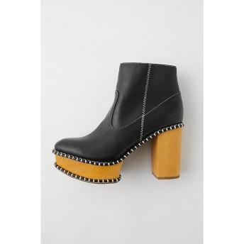 マウジー WOOD SOLE ブーツ レディース 柄BLK5 M 【MOUSSY】