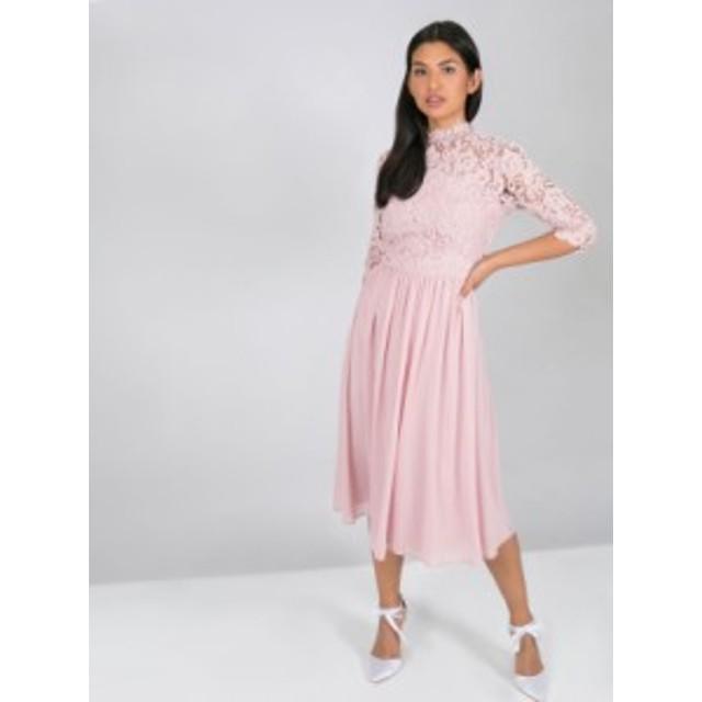 CHI CHI LILA DRESS チチロンドン ワンピース ミディドレス ミンク ピンク