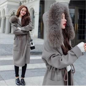 トレンチコート ファー付 ウールコート コート レディース アウター 大きいサイズ ロング フェイクファー 羽織り おしゃれ きれいめ