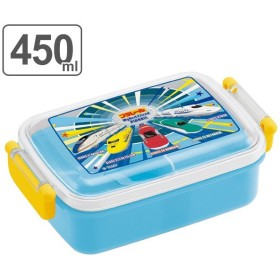 お弁当箱 プラスチック製 ふわっとタイトランチBOX 450ml プラレール 子供 ( 食洗機対応 幼稚園 保育園 新幹線 )
