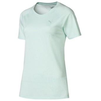 (セール)PUMA(プーマ)レディーススポーツウェア ワークアウトTシャツ TOPS A.C.E. ラグラン Tシャツ 51755515 レディース フェア アクア