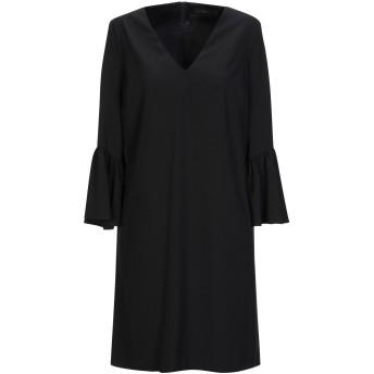《セール開催中》ALESSANDRO DELL'ACQUA レディース ミニワンピース&ドレス ブラック 38 ポリエステル 90% / ポリウレタン 10%
