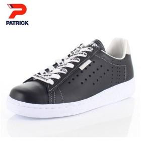 パトリック スニーカー ケベック ロゴ PATRICK QUEBEC-LG BLK 531061 ブラック メンズ レディース 靴 日本製 レザースニーカー