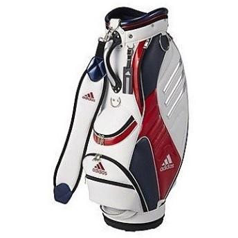 (セール)(送料無料)adidas(アディダス)ゴルフ メンズキャディーバッグ キャディバッグ 3 AWS17-A15692 メンズ FREE ホワイト/レッド