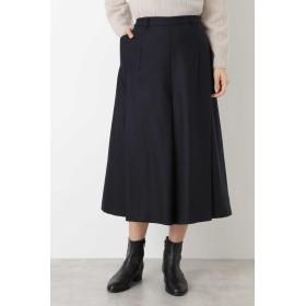 HUMAN WOMAN 変形ダイヤパンツ ひざ丈スカート,ネイビー