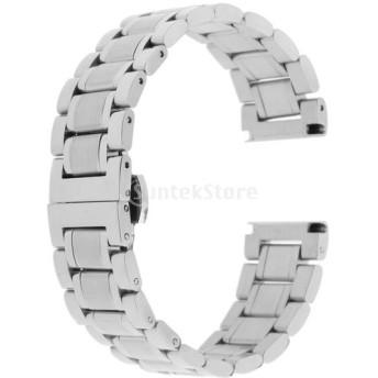 ステンレス鋼 腕時計バンド ウオッチストラップ 時計バンド 交換用部品 多種類選べ - シルバー18mm