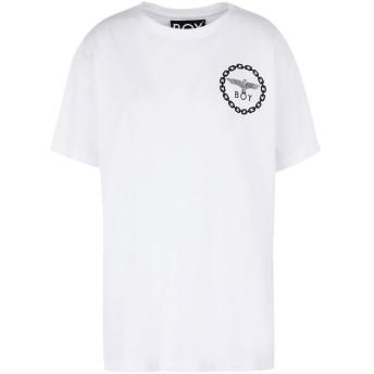 《期間限定セール開催中!》BOY LONDON レディース T シャツ ホワイト S コットン 100% BOY EAGLE BACKPRINT TEE