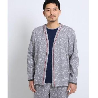 TAKEO KIKUCHI / タケオキクチ 幾何学迷彩パジャマカーディガン[ メンズ ルームウェア パジャマ セット 迷彩 カモフラ ]