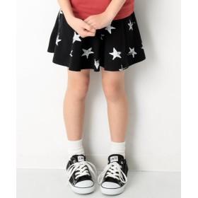 デビロック キッズ 子供服 ポケット付き 総柄1分丈スカッツ スカート 女の子 レディース ブラック 140 【devirock】