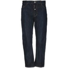 《セール開催中》DSQUARED2 メンズ ジーンズ ブルー 48 コットン 100% / ポリウレタン / 牛革 / 亜鉛 / アルミニウム