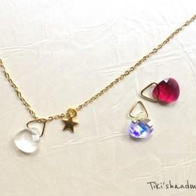 SWAROVSKI×STAR necklace スワロフスキー×星ネックレス