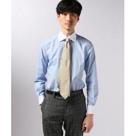 EDIFICE セミワイド ポプリン クレリックシャツ ブルー A 37