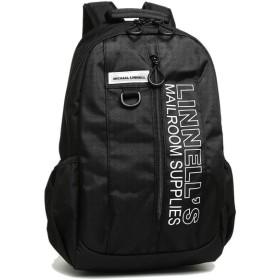 【返品OK】マイケルリンネル バッグ MICHAEL LINNELL ML026 BKW ポリエステルライン メンズ リュック・バックパック BLACK/WHITE 黒