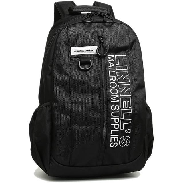 マイケルリンネル バッグ MICHAEL LINNELL ML026 BKW ポリエステルライン メンズ リュック・バックパック BLACK/WHITE 黒
