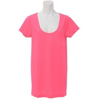 (セール)PUMA(プーマ)レディーススポーツウェア ワークアウトTシャツ TOPS エボニット Tシャツ 59076735 レディース ノックアウト ピンク