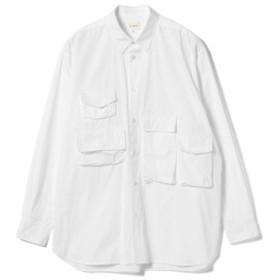 BEAMS / ユーティリティ シャツ メンズ カジュアルシャツ WHITE S