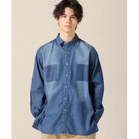 B.C STOCK 【DAY LINE】デニムカコウシャツ◆ ブルー B L