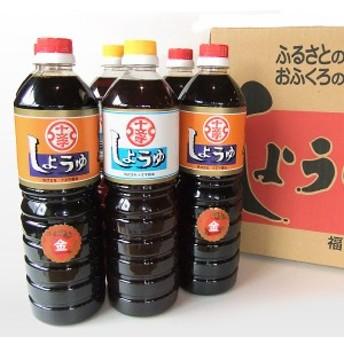 【十文字醤油】(福岡県朝倉市) 九州うまくち醤油 こいくち・うすくち6本セット
