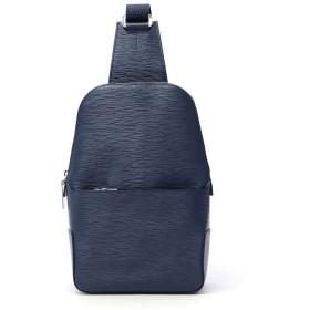ギャレリア アニアリ aniary ボディバッグ ウェーブレザー Body Bag Wave Leather レザー 本革 16 07000 ユニセックス ネイビー F 【GALLERIA】