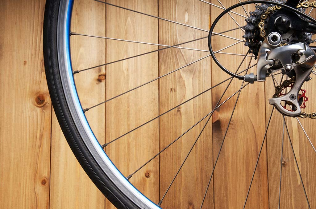 自転車の車輪部分