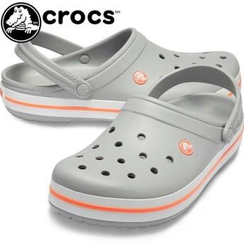 クロックス crocs クロッグサンダル メンズ レディース 11016 OFL コンフォートサンダル アクアサンダル ライトグレー/ブライトコーラル crocband 水辺 レジャー