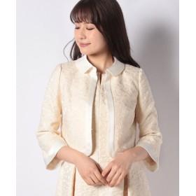 エリザ クリアヤーンフラワージャガードジャケット レディース ベージュ系 1号(7号) 【ELISA】