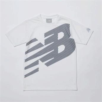 (NB公式) 【30%OFF】 ≪ログイン購入で最大8%ポイント還元≫ 【SALE】スーパービッグロゴ Tシャツ (WT ホワイト) ニューバランス newbalance セール