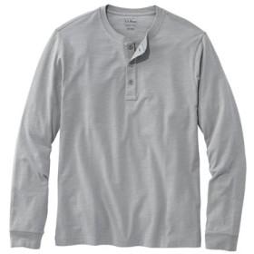 レイクウォッシュ・オーガニック・コットン・シャツ、長袖 ヘンリー/Lakewashed Organic Cotton Shirt Long-Sleeve Henley