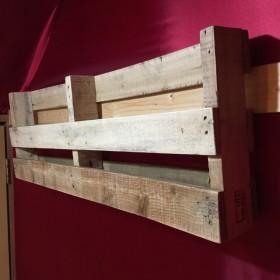 木製パレット ウォールシェルフ フローティングシェルフ(無塗装)