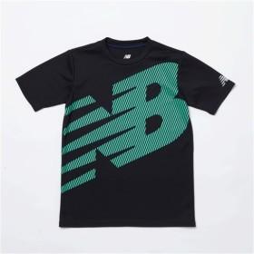(NB公式) 【30%OFF】 ≪ログイン購入で最大8%ポイント還元≫ 【SALE】スーパービッグロゴ Tシャツ (BK ブラック) ニューバランス newbalance セール