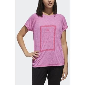 (セール)adidas(アディダス)レディーススポーツウェア ワークアウトTシャツ TOPS W M4T メッセージプリントTシャツ FTF46 DV2214 レディース リアルマ...