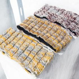 手作りの純粋なウール織りヘアバンド/カラフルな織りヘアバンド/かぎ針編みのヘアアクセサリー/ハンドメイドツイストヘアバンド -