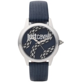 4e423e4b9dcb 《送料無料》JUST CAVALLI レディース 腕時計 シルバー ステンレススチール / 革 JC1L050L0215