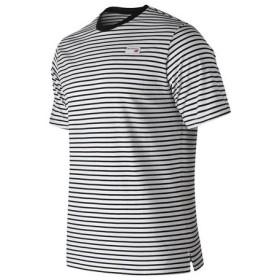 ニューバランス(new balance) アスレチックストライプ半袖Tシャツ AMT91561BK (Men's)