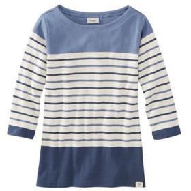フレンチ・セーラー・シャツ、ボートネック 7分丈袖 マルチストライプ/French Sailor's Shirts Boatneck Three-Quarter-Sleeve Multi-Stripe