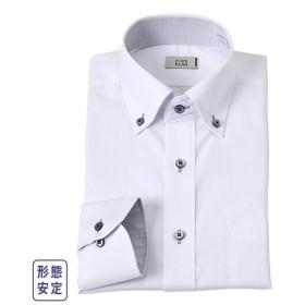ワイシャツ ビジネス メンズ 消臭芯地使用汚れが目立ちにくいデザイン形態安定 長袖 ボタンダウン  M/L/LL ニッセン