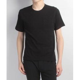 (セール)Alpine DESIGN(アルパインデザイン)トレッキング アウトドア 半袖Tシャツ 胸ポケットTシャツ ジャガード ADC-S17-401-056 BLK メンズ ブラック