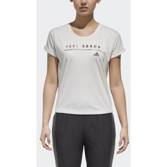 (セール)adidas(アディダス)レディーススポーツウェア ワークアウトTシャツ TOPS W M4Tトレーニング メッセージプリント Tシャツ FAO66 DJ2974 レディ...
