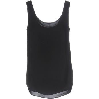 《期間限定セール開催中!》RALPH LAUREN BLACK LABEL レディース トップス ブラック 4 シルク 100% / 羊革(ラムスキン)