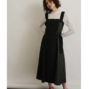 OZOC / オゾック [洗える]サイドチェックトレンチジャンパースカート