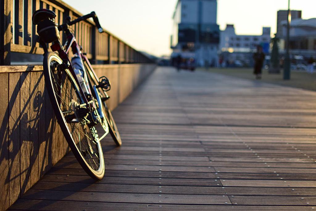 自転車を主人公に写真撮影