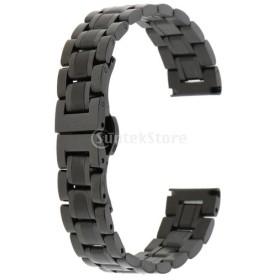 ステンレス鋼 腕時計バンド ウオッチストラップ 時計バンド 交換用部品  多種類選べ  - ブラック14mm