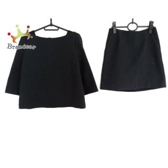 アドーア ADORE スカートセットアップ サイズ38 M レディース 黒 ジップアップ/キルティング スペシャル特価 20190630