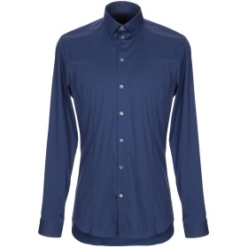 《セール開催中》PATRIZIA PEPE メンズ シャツ ブルー 46 コットン 67% / ナイロン 27% / ポリウレタン 6%