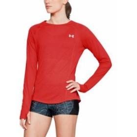 (取寄)アンダーアーマー レディース ストライカー ロング スリーブ トップ Underarmour Women's Streaker Long Sleeve Top Radio Red