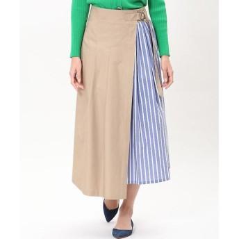 INED / イネド 《Maison de Beige》ストライプ柄ラップスカート
